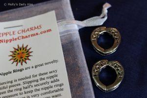 Nipple charms non piercing nipple rings