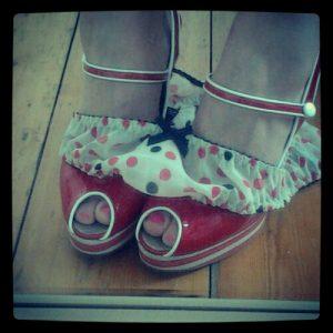 panties round ankles