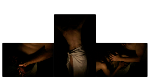 religious triptych with an erotic twist