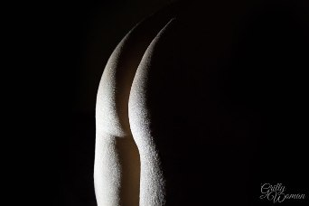 Photograph of buttocks that look like a giant moon