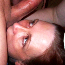 woman licking balls
