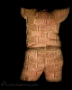 Woman's body turned into brickwork