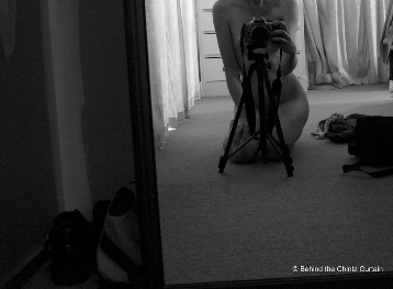 naked self portrait of a photographer