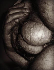 Abstract image of male testicles