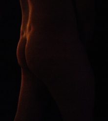 Male nude low light shadows