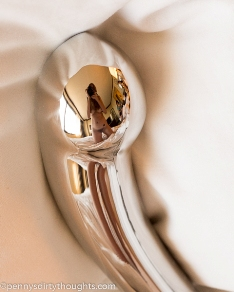 Pennt reflected in her nJoy dildo