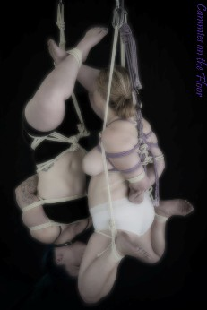 Dual suspension two women in the 69 position