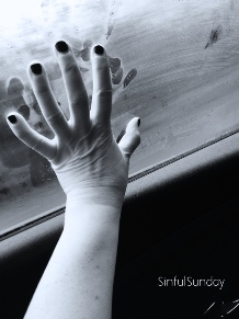 Hand on misty window inspired my the scene from the movie Titanic