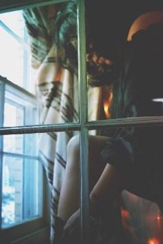 Watching Sassy through the window