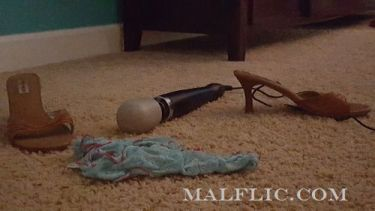 Discarded Doxy Massager and panties on the floor
