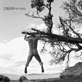 Man swinging from a tree naked sinful sunday
