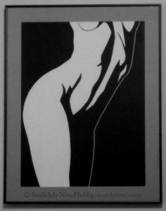 Nude black and white art painting woman sinful