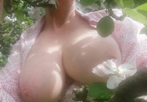 Spring blossom with womans boobs sinful sunday