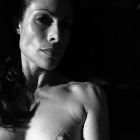 Film noir portrait of female nude sinful sunday