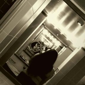 Self portrait infinity mirror