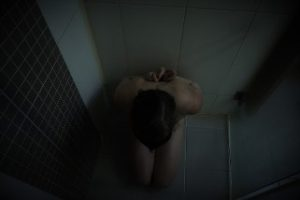 Woman blindfolded in the shower sinfulsunday
