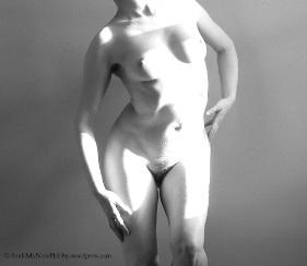 Female portrait of woman in statuesque pose