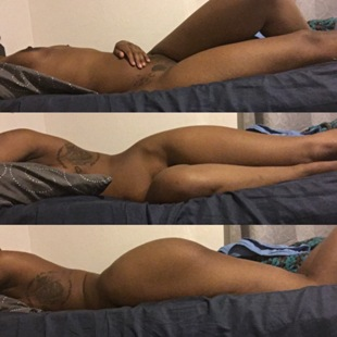 Triptych of Nude woman tossing and turning in bed
