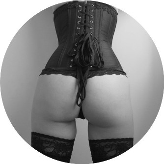 back view of woman in corset