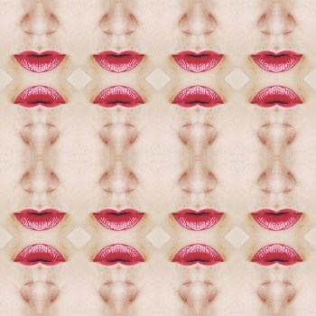 abstract of red lips and nose