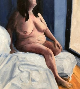 Painting of female nude