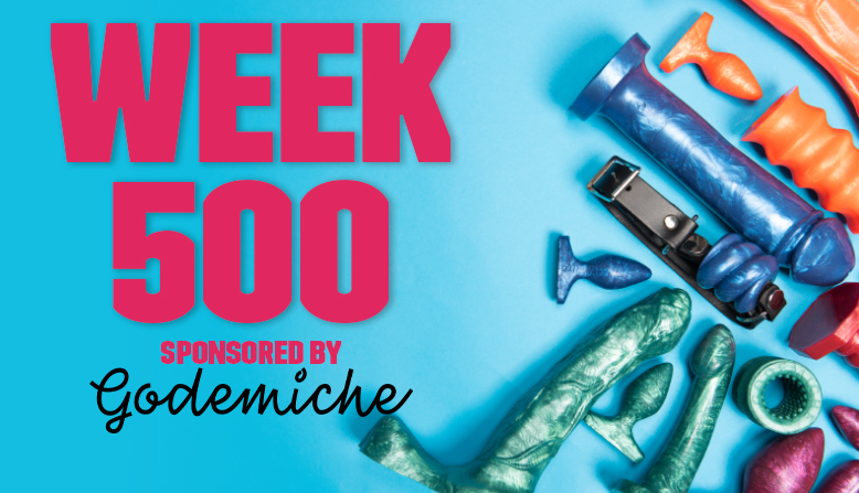 Godemiche sponsor week 500 of sinful sunday banner image with dildos
